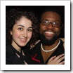 Leora Zellman and Baratunde Thurston at Mashable's MashBash in NYC