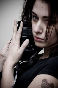 Leora Zellman with her D40X before it was stolen from US Airways